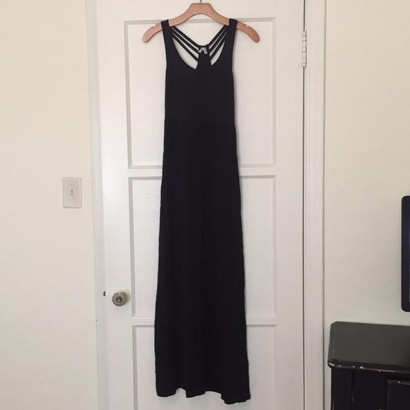5302434800c Mudd black rayon maxi dress summer S soft Flowy